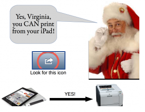 Can print from iPads